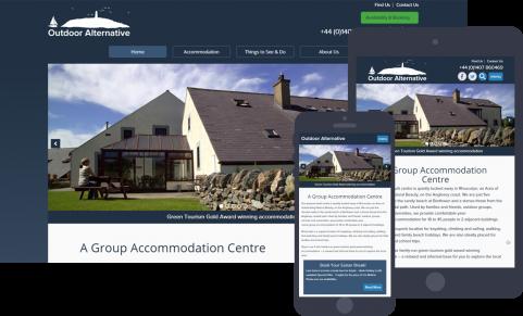Outdoor Alternative website design