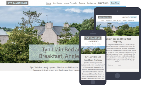 Tyn Llain B&B website