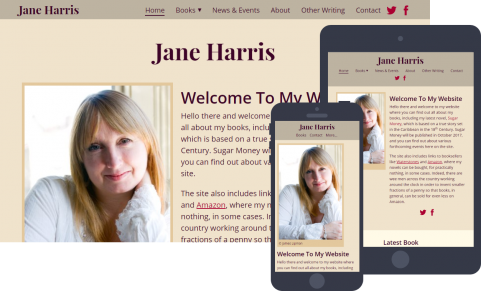 Website for author Jane Harris