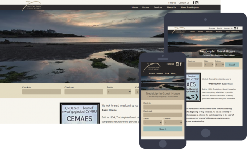 Website for Treddolphin Guesthoue Cemaes Anglesey