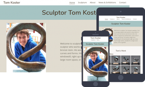 Website for sculptor Tom Koster
